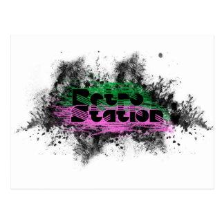 Retro Station Logo Design Postcard