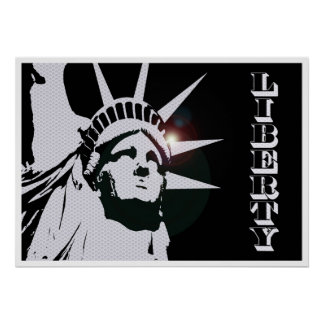 Retro Statue of Liberty Poster