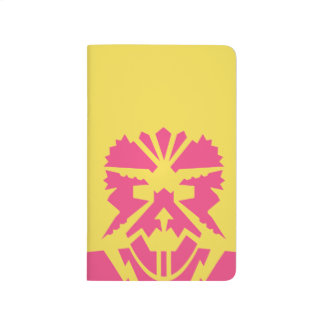 Retro Stencil Graphic Jot Book - Pink FIshman