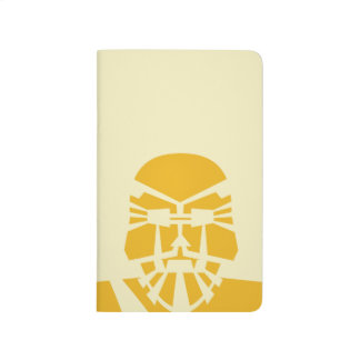 Retro Stencil Graphic Jot Book - Yellow lion-man