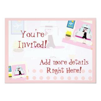 Retro Stephanie 5x7 Paper Invitation Card