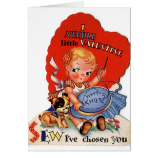 Retro Stitcher Valentine's Day Card