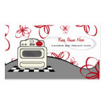 Retro Stove Red Kitchen Caterer / Chef Pack Of Standard Business Cards