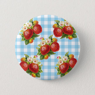 Retro Strawberry 6 Cm Round Badge
