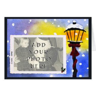 Retro Street Lamp Photo Card