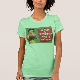 Retro stressed is desserts spelled backwards shirts