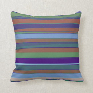 Retro Stripe Colored Paint Art Design Abstract Cushions