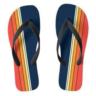 Retro Stripe in Navy Flip Flops