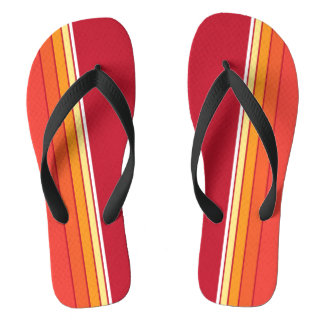 Retro Stripe in Red Flip Flops