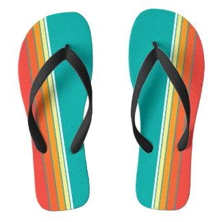 Retro Stripe in Turquoise Flip Flops