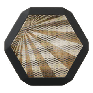 Retro stripe pattern background black bluetooth speaker