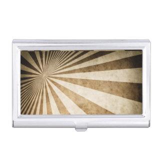 Retro stripe pattern background business card holder