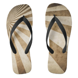 Retro stripe pattern background flip flops