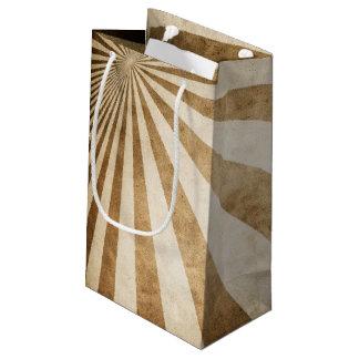 Retro stripe pattern background small gift bag