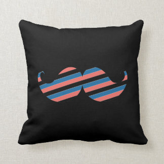 Retro Striped Handlebar Mustache Cushion
