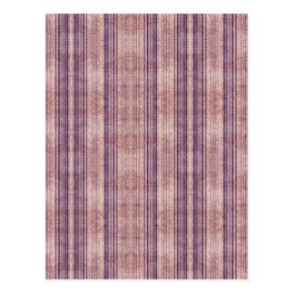 Retro Striped Purple Pink Wallpaper Postcard