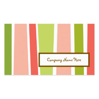 retro stripes : 2-sided : pack of standard business cards