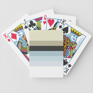 Retro Stripes Bicycle Playing Cards