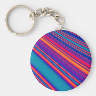 Retro Stripes Key Chain