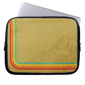 Retro Stripes On A Grunge Background Laptop Sleeve