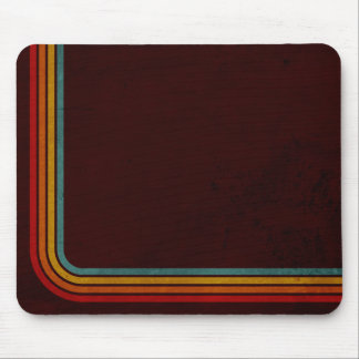 Retro Stripes On A Grunge Background Mouse Pad