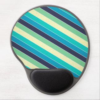 Retro stripes pattern gel mouse pad