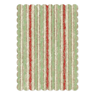 Retro Stripes Red Green Beige Stripe Personalized Announcements