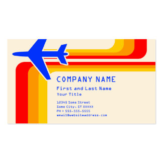 retro stripes travel Double-Sided standard business cards (Pack of 100)