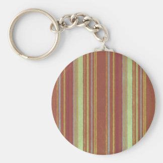 Retro Stripes Yellow Rust Stripe Key Chains