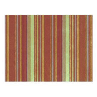 Retro Stripes Yellow Rust Stripe Postcards