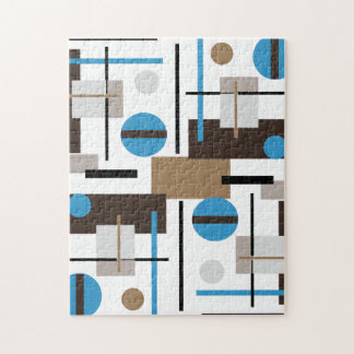 Retro style Abstract design pattern Jigsaw Puzzle