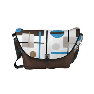 Retro style Abstract design pattern Courier Bag