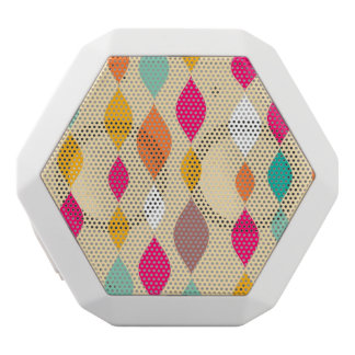 Retro style abstract pattern white boombot rex bluetooth speaker