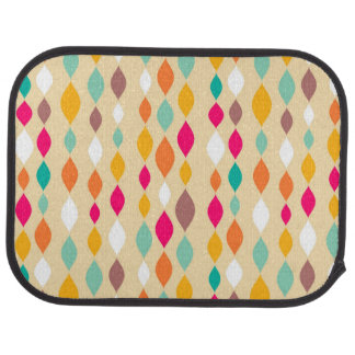 Retro style abstract pattern car mat