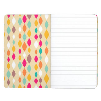 Retro style abstract pattern journal
