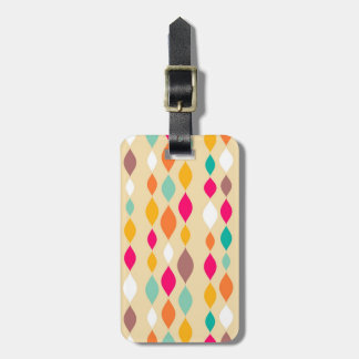 Retro style abstract pattern luggage tag