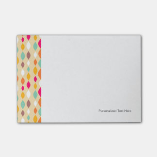 Retro style abstract pattern post-it notes