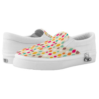 Retro style abstract pattern Slip-On shoes