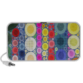 Retro Style Abstract Textured Polka-Dots Mp3 Speakers