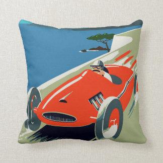 Retro style auto Grand Prix Rivièra Cushion