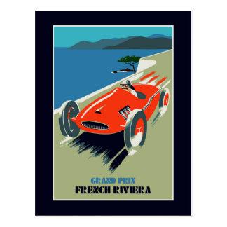 Retro style auto Grand Prix Rivièra Postcard