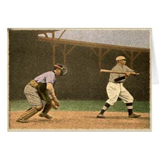 Retro Style Baseball Greetings Card