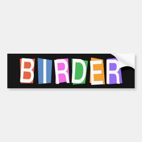 Retro-style Birder Bumper Sticker