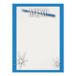 Retro style blank menu template