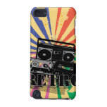 Retro style boom box and cassettes iPod touch 5G case