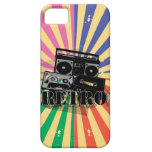 Retro style boom box and cassettes iPhone 5 cover