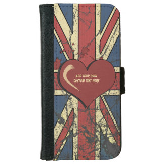 Retro Style British Flag iPhone 6 Wallet Case