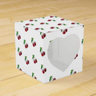 Retro Style Cherries Candy Heart Box