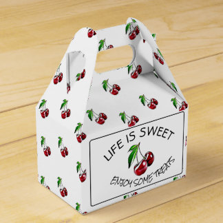 Retro Style Cherries Candy or Cupcake Box