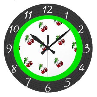 Retro Style Cherries Kitchen Clock